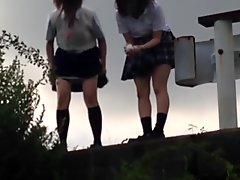 Kinky asian teenagers peeing