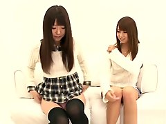 Petite Japanese Babes Fingered In Threeway