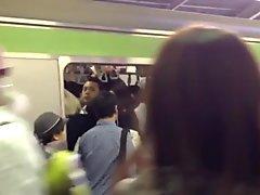 Humping Groping in tokyo subway